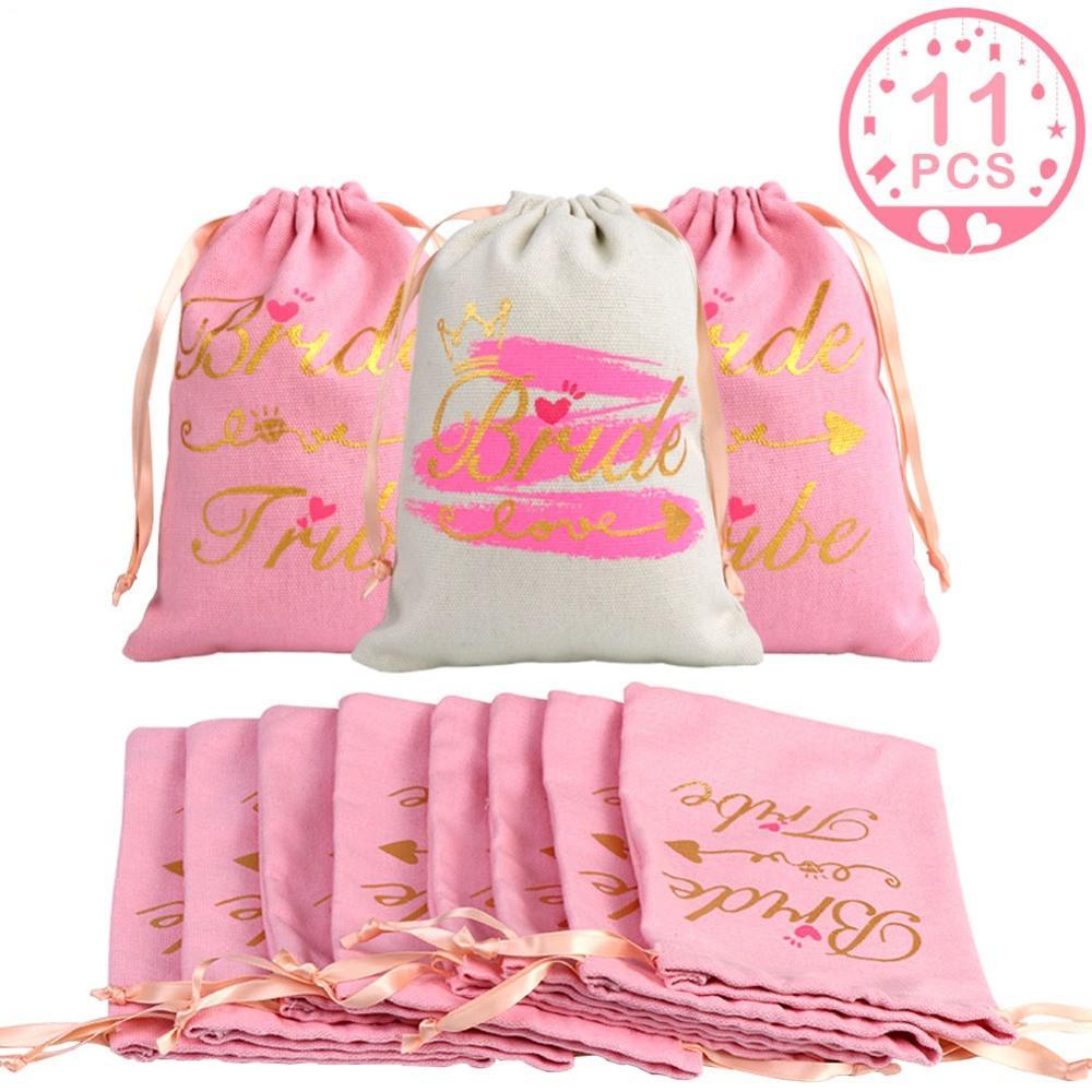 11 개 신부 샤워 호의 가방 게스트 선물 처녀 파티 숙취 키트 가방 들러리 선물 숙취 웨딩 장식