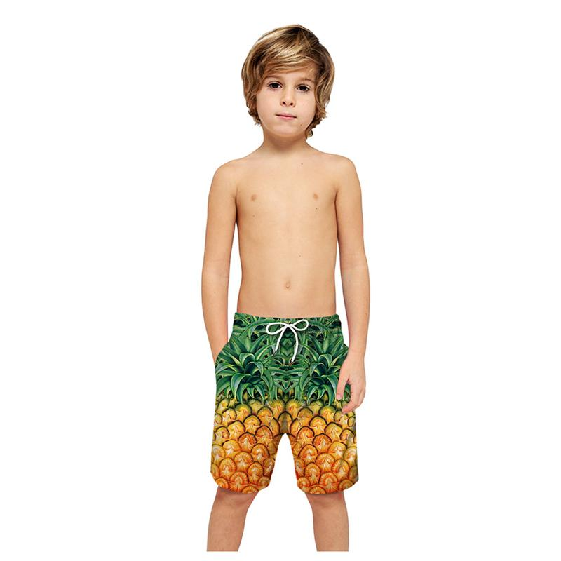 2020 Summer 3D Print Boys Shorts for 7-16yrs Kids Swimming Surf Shorts Children Clothes Beach Trunks Campaign Quick Dry Pants A4