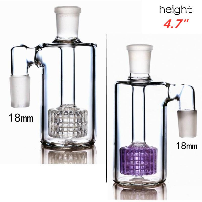 4.7 Inch Glass Bong Ash Catchers 18mm Thick Pyrex Glass Bubbler Ash Catcher 45 90 Degree Glass Ashcatcher Water Pipes