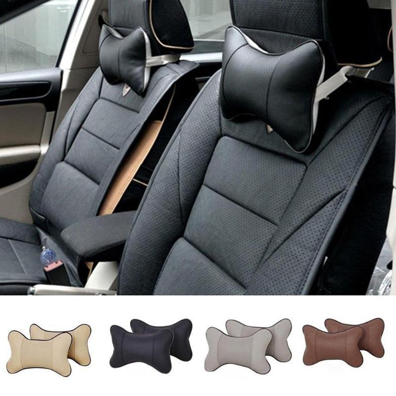 1 adet Seyahat Araba OTO koltuk Baş Boyun Istirahat deri yastık Pad Kafalık kemik yastık 4 renk boyutu 25 cm x 18 cm cm