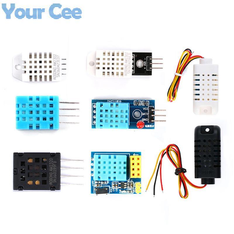 Temperatura ctive Componentes Sensores digital e sensor de umidade Módulo DHT11 DHT22 2302B 2301 AM2320 AM2302 HS1101 HR202 Sensor Para Ardu ...