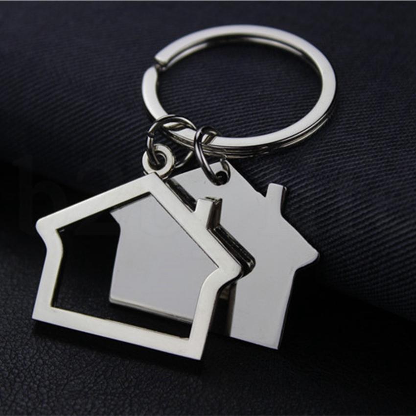 Yaratıcı Ev Anahtarlık Metal Anahtarlık ev Tasarımı araba Anahtarlık Anahtar kolye Anahtarlık KKA7540 Şeklinde