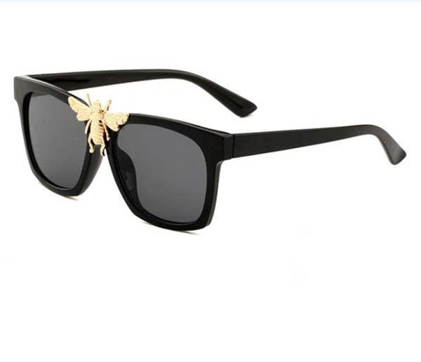 0239 new stylish big bee decorative sunglasses trendy big box sunglasses stylish glasses6