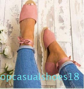 Donna Sandali Moda tacco basso sandali per l'estate scarpe cinturino alla caviglia donna sandali degli appartamenti scarpe morbide scarpe casual inferiore 35-43 il trasporto T18