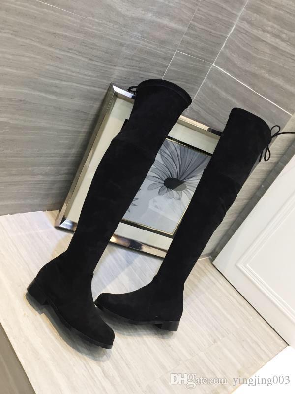 Tasarımcı DESERT BOOT Kadınlar Klasik uzun boylu Boots Kadınlar çizme Kar deri WinterMartin Çizme Lady Kalın Lastik dış taban bmh19090305