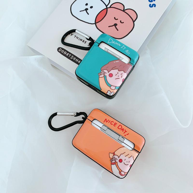 2020 fashion cell phone accessories lovely cartoon boy and girl airpods case for apple airpods 2 pro