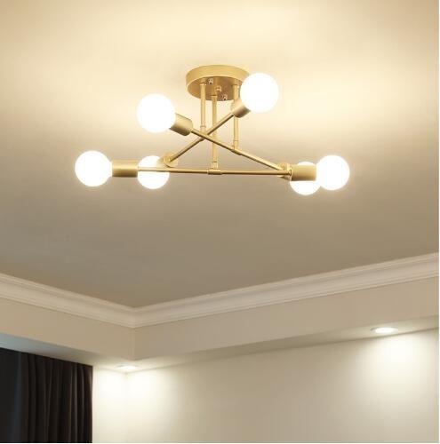 현대 LED 천장 샹들리에 조명 거실 침실 샹들리에 크리 에이 티브 홈 조명기구 AC110V / 220V 무료 배송