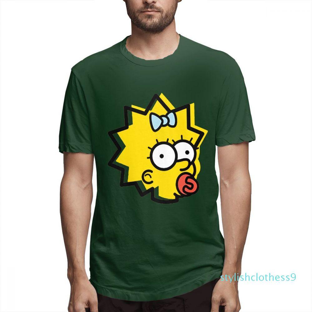 Desenhador de moda camisetas Hip Hop Womens Shirts homens Short casais shirt Os Simpsons Impresso camisetas Casual Mens Topsc2511s09