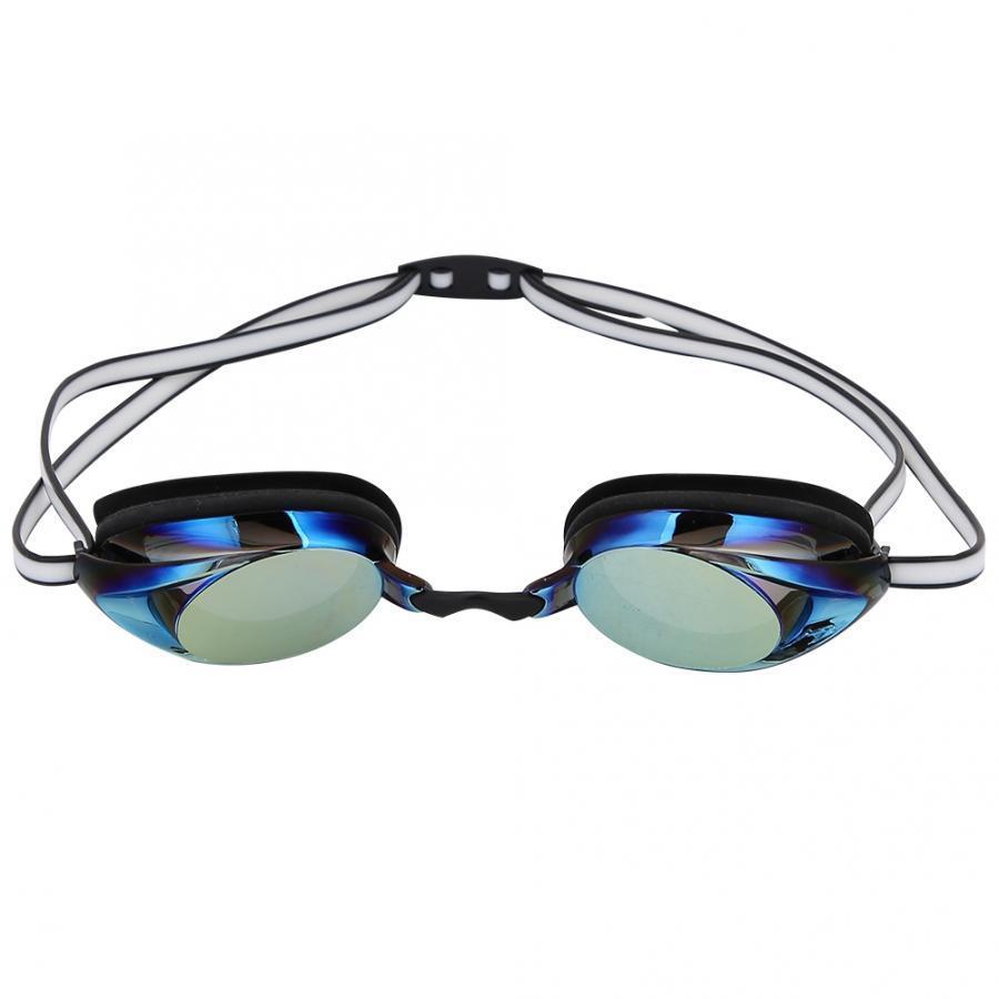 السباحة نظارات مهنية عالية الجودة المضادة للضباب PC عدسة ماء سيليكون مطلي السباحة نظارات الأزرق نظارات