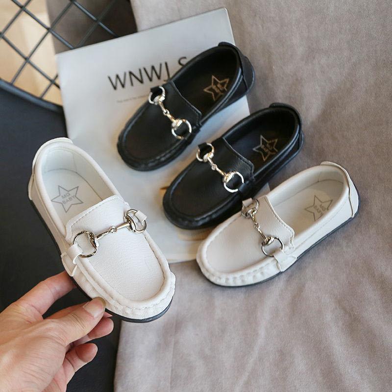 Children Flat Shoes Boys Loafers Black