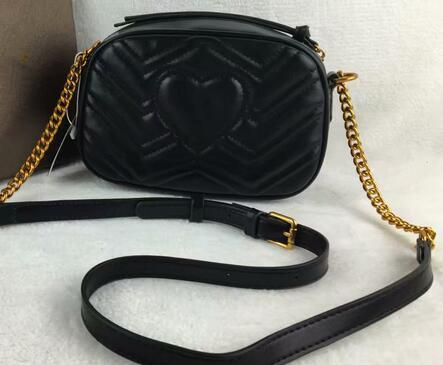 2020 New Women Marmont Messenger Bag Long Chain PU Leather Designers Okbass Ancient Gold Chain Handbags Totes Hobos