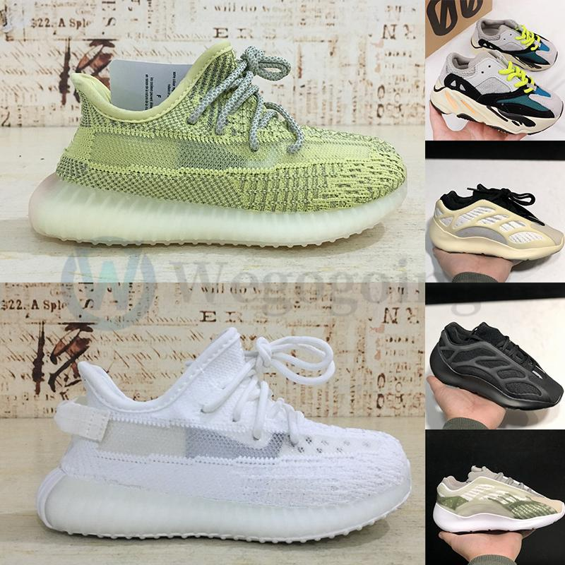 Adidas Yeezy Boost 350 Kids Designer Shoes 2020 Kanye 700 Mauve corridore onda v3 Alvah azael Toddlers formatori v2 argilla nera tripla Bianco Antlia bambini Sneakers