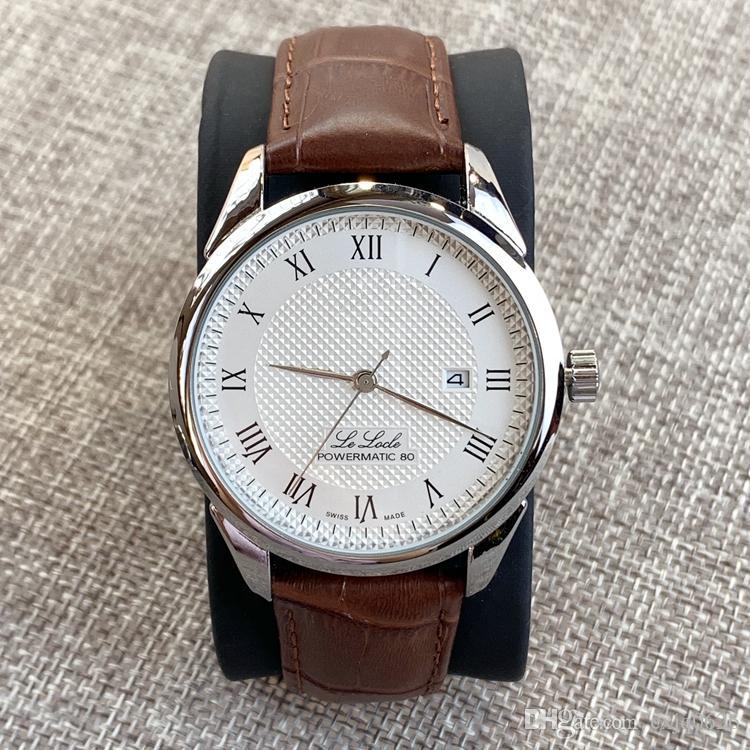 최고 판매 럭셔리 패션 남자 가죽 간단한 높은 품질의 시계 정장 시계 클래식 쿼츠 시계 검은 색 스포츠 손목 시계를 dropshipping