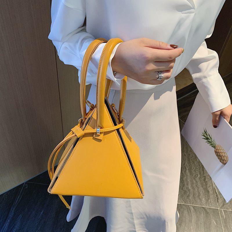 Болса Mulheres grife де Luxo-де-Moda 2020 Корейского стиля сумка треугольника тотализатор для женщин кожи рук сумки маленькой сумочки