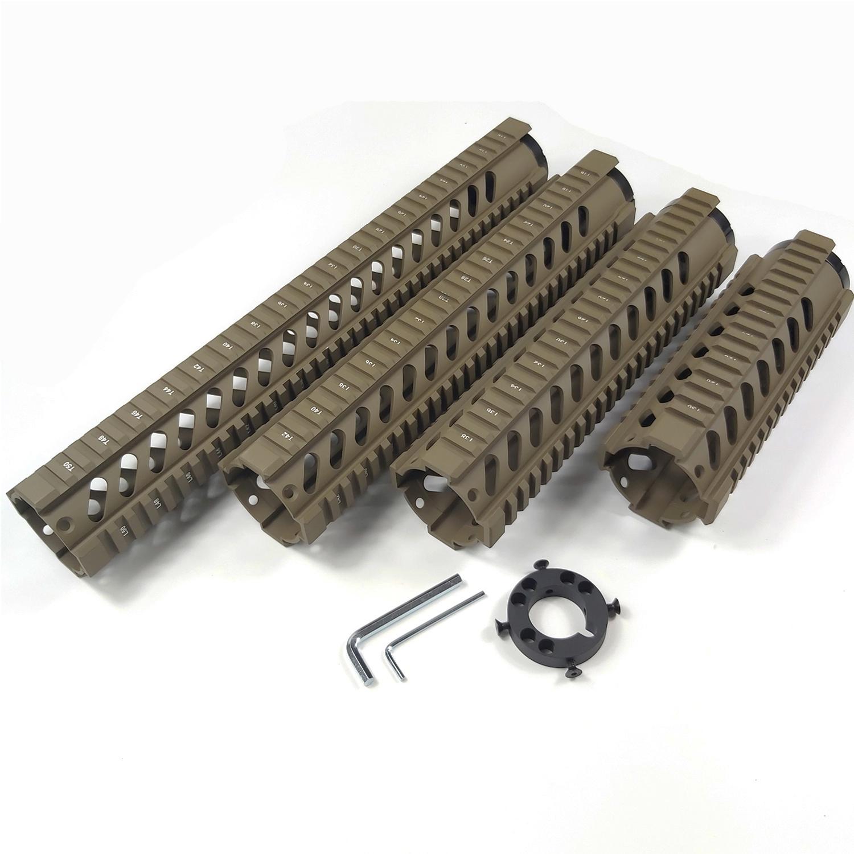 프런트 엔드 캡과 7,10,12,15 인치 무료 플로트 쿼드 레일 보호대 플랫 다크 어스 컬러는 0.223 / 5.56에 적합