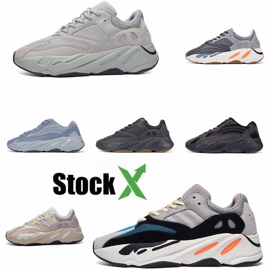Инерция 700 Цемент V2 Geode Wave Runner Vanta Static Kanye West Сиреневый Og Solid Gray Дизайнер Мужчины Женщины кроссовки Спортивные кроссовки 3 # DSK507