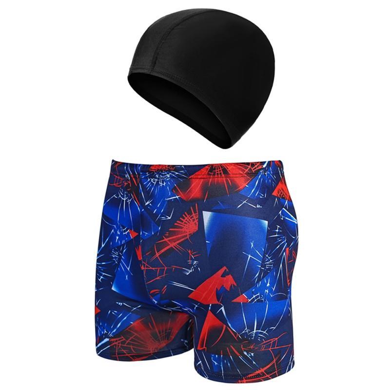 Лето дышащий Мужчины Быстрый сухой плавках Регулируемые Костюмы кулиской попариться Swim Cap