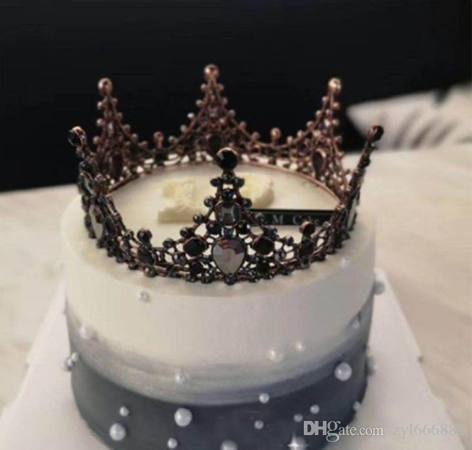 Prime Black Baroque Retro Queen Crown Alloy Arrangement Crystal Funny Birthday Cards Online Kookostrdamsfinfo