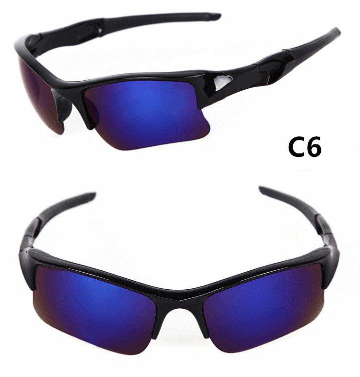 9009 Sport Sonnenbrille Half Frame Männer Fahrrad und Fahren Sonnenbrille UV400 Radfahren Brillen 9 Farben Großhandel