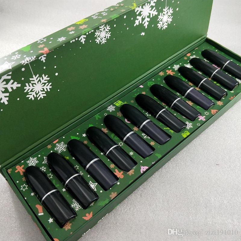 Nuovo marchio maquillage cosmetici trucco 1984 Un Mermaid Moment rossetto opaco regalo trucco di 12 colori M Stick labbra Set Christmas Snow Lip