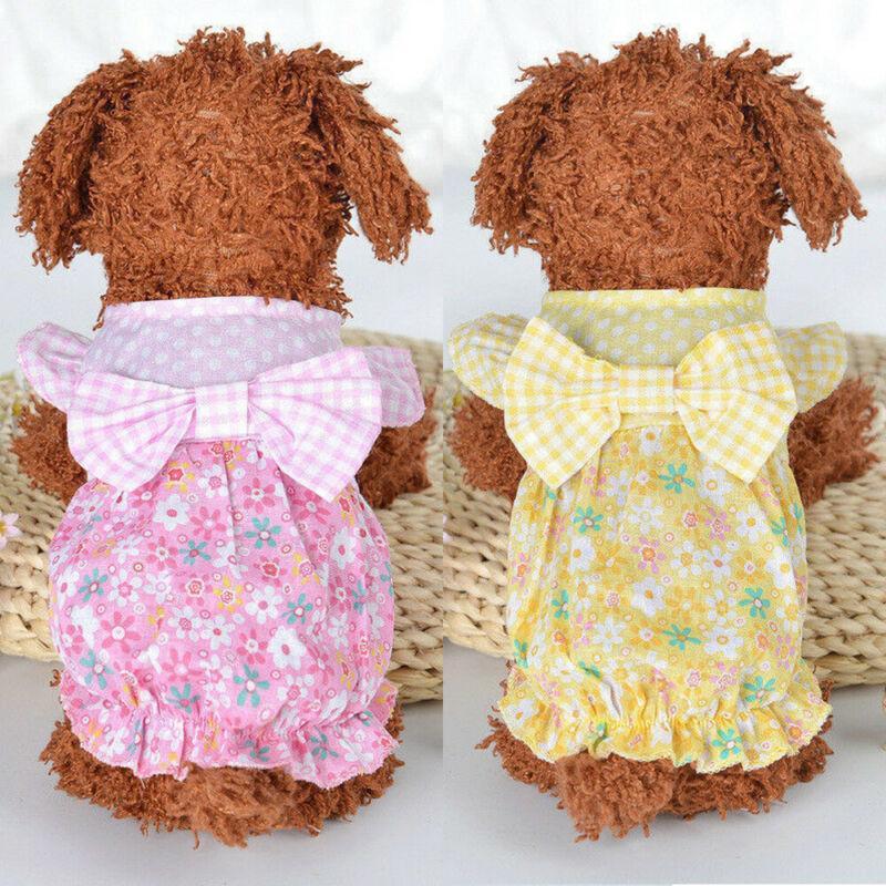 لقدح الشاي الصيف الكلب القط اللباس الملابس للكلاب الأليفة القطط ملابس الكلب
