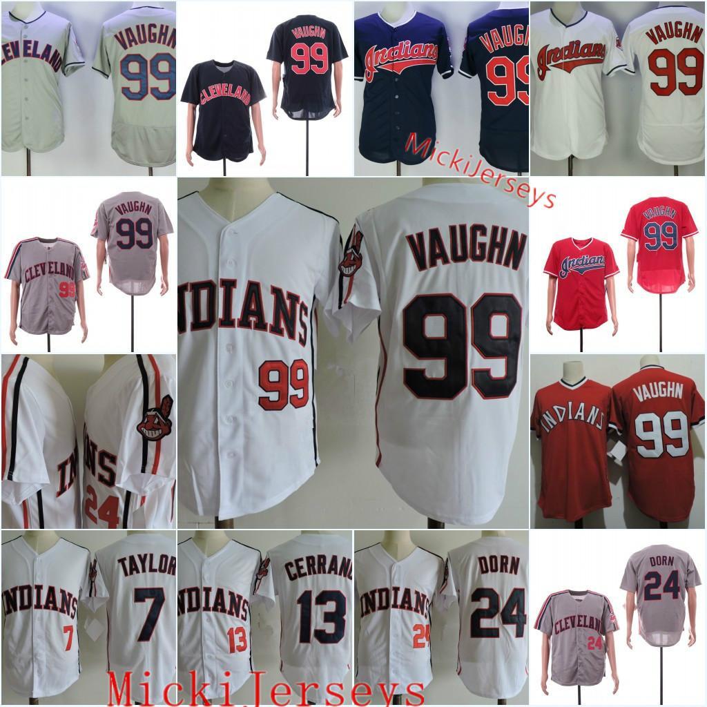 Hommes # 99 Rick Vaughn Jersey # 13 Pedro Stitched Cerrano # 7 Jake Taylor # 24 ROGER Dorn Film Baseball Jersey S-3XL