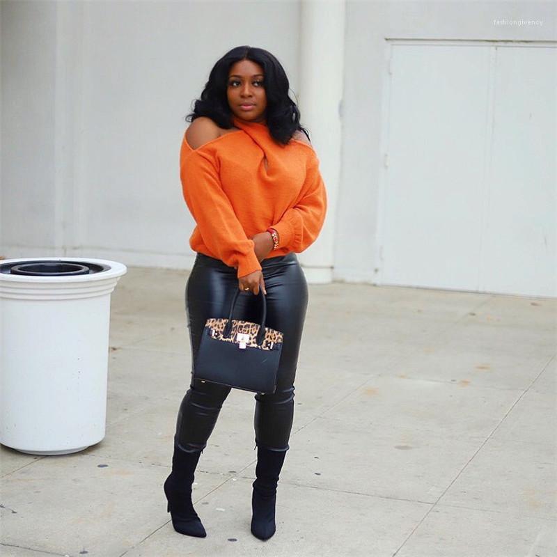 Épaule Knits Fashion Halter Pull à manches longues Tops Sexy V Neck Luxe Vêtements Designer Femmes Dew