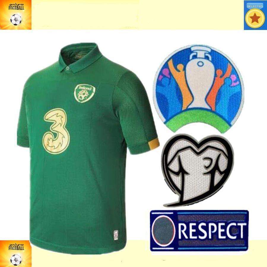 19 20 Ирландия Чемпионат Европы дома ФК от 2019 2020 Ирландии человек и дети комплект футбол Джерси