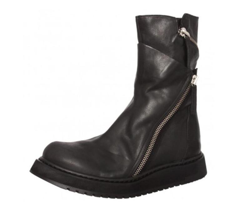 أزياء الرجال مارتن الأحذية الطبقة الأولى البقر شقة الأحذية الجلدية الرجال رئيس لصدمة حذاء الثلوج الرجال امتصاص ل