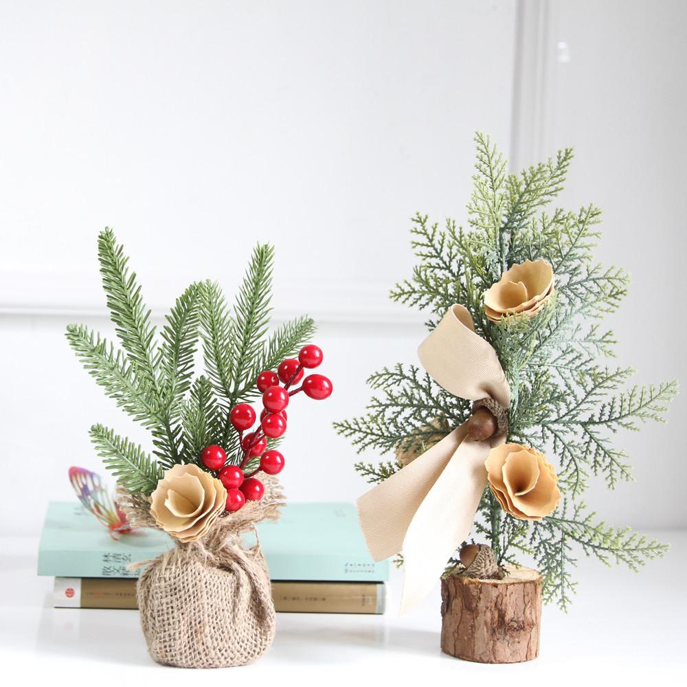 Neujahr Weihnachten Tischdekoration Mini Weihnachtsbaum Ornament Dekoration Geschenk Wohnaccessoires # 30