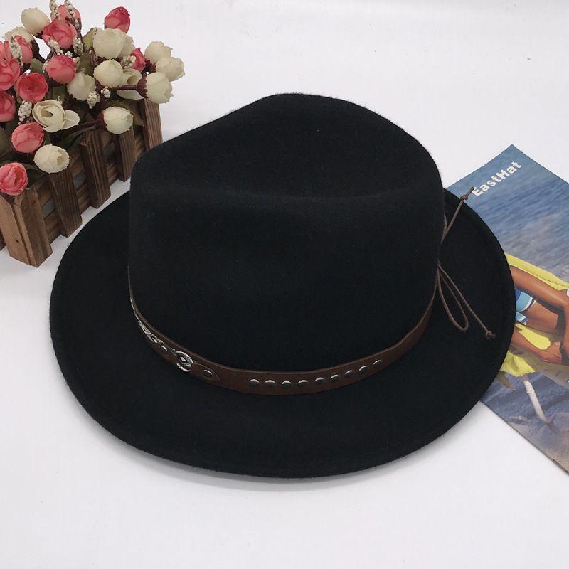 Mens Dress 100/% Wool Felt Hats Jazz Hats
