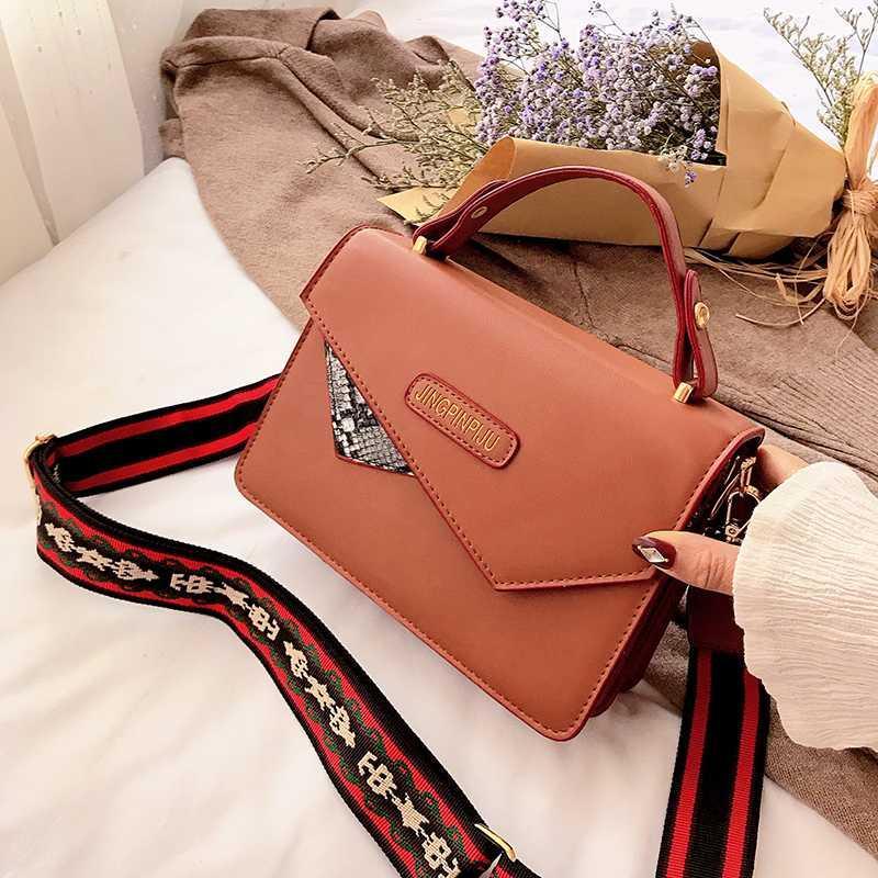 Elegantes bolsos de mano Cruzado para las mujeres 2020 Invierno Nueva Highquality bolso de cuero manera de las señoras mini bolso Messenger Rojo