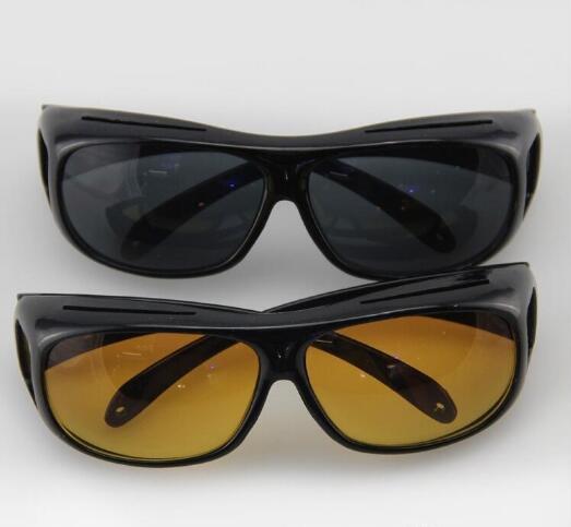 Gözlük Koyu Sürüş UV400 Koruyucu Gözlükler Karşıtı Glare44 Çevresinde Güneş Erkekler Sarı Lens Üzeri Wrap
