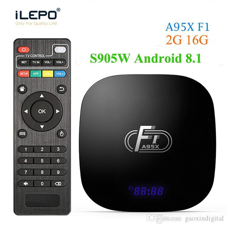 A95X F1 Android 8.1 TV kutusu Amlogic S905W Dört Çekirdek 4K 1GB 2GB DDR3 8GB 16GB 2.4G WIFI Set Üstü KUTUSU