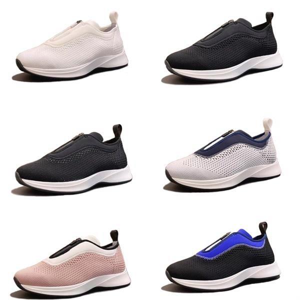 Marca degli uomini B25 Low-top Designer Sneaker maglia nera Bule Bianco Neoprene Slip-on Zip-up formatori tecnici i pattini le scarpe di lusso con la scatola