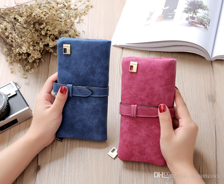 Neue 2019 Frau Frauen Geldbörsen Matte Leder Brieftasche Weibliche Geldbörse Brieftasche Frauen Kartenhalter Armband Geld Tasche Kleine Tasche