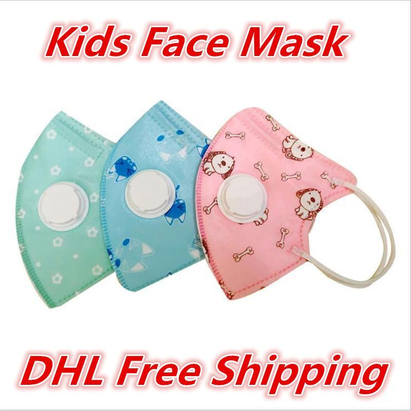 Designed Kids Face Mask with Breathing Valve Masks Anti-Dust Waterproof Dust Air Pollution Protection Respirator Mask For Boys Girls