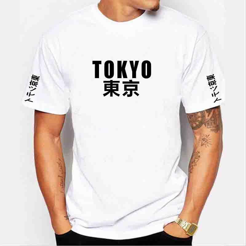 Herren Designer Kurzarm-Shirt Tokyo Stadt Freizeit-T-Shirt aus 100% Baumwollhemd weiß schwarz lila freies Verschiffen # 546