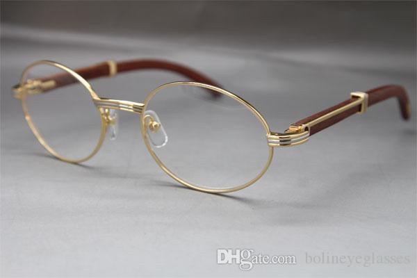 Großhandel 7550178 Holz Brillen Designerbrillen-Brillen Frauen Hot mit Kastenrahmen Vintage-Brille Größe: 55-22-135 mm
