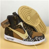 Aair 6 Jordan 1 Louis Vuitton Luxury Off Retro Sneakers Men And Women Louis Basketball Shoes Color Air White Dfd Louis From Kzx6352 29 46 Dhgate Com