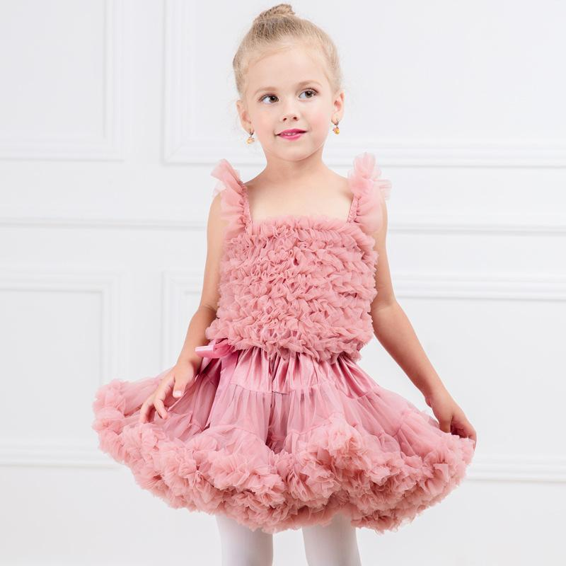 New Fashion Baby Girls Tutus Kids Fluffy Chiffon Pettiskirt Children Princess Party Birthday Prom Bubble Skirt