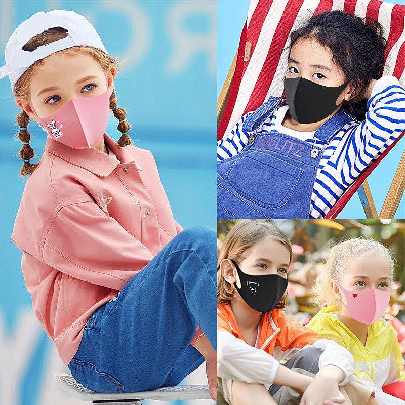 Bambini anti-polvere Maschera del fumetto Stampa Bocca copertura PM2.5 maschera Bambini respiratore antipolvere traspirante lavabile riutilizzabile spugna Maschere Top