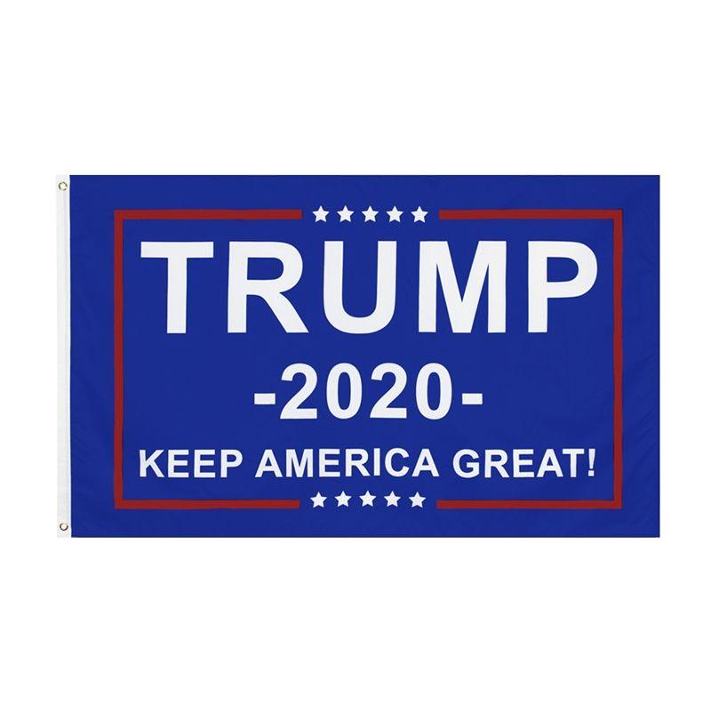 Anuncie Trump 2020 logotipo da bandeira 2X6Ft banner personalizado Digital Impresso 180X60Cm decorativa Promocional Sports Training School Camping # 233