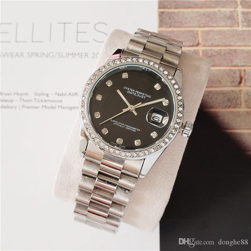 Swiss Classic ben noto marchio più alte qualità presidente Diamond Bezel Ladies Watch in acciaio inox prezzo più movimento al quarzo automatica