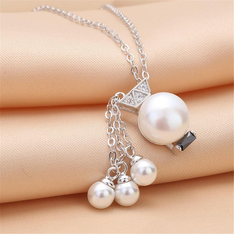 wholesale Fashion S925 Sterling Silver Pendant mountings Tassels pearl Pendant mountings DIY Necklace accessories free shipping