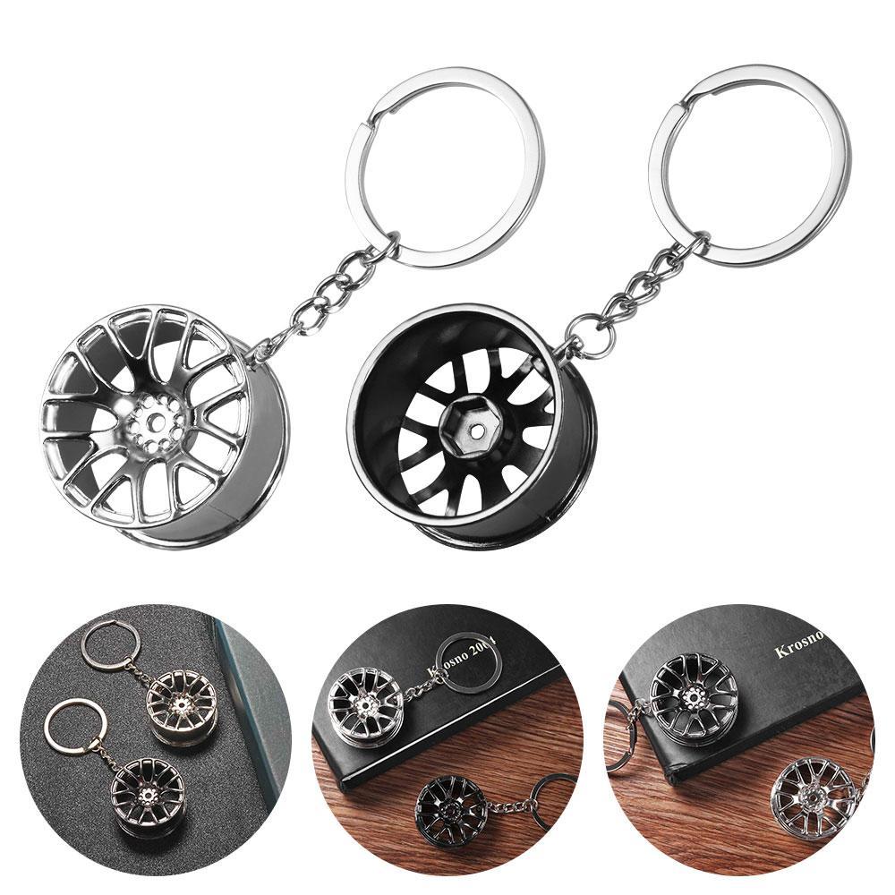 Key Chain 3D Miniature BBS Wheel Rim Keychain metal Car Key Ring wheel hub Key Chain Car sales gifts For Friend Gift