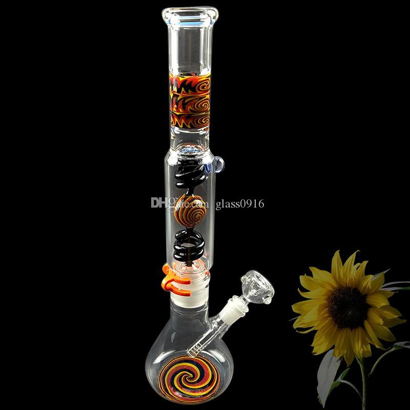 New glass beaker bong dab rig recovery spring perc water pipe penetration fast connection ash catcher bubbler glass bowl 18.8mm