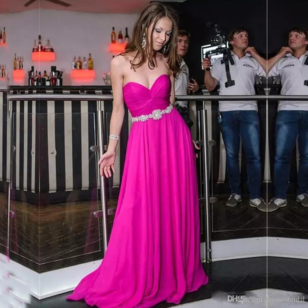Querida A linha de vestidos de baile Querida Ocasião especial Vestidos de festa Sweep Trem Longo Custom Vestidos De Soiree Barato