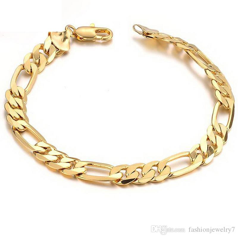 Hot Brass Mens Bracelet Classical Biker Bicycle Metal 18k Gold Link Chain Jewelry Bracelets For Men Free Shipping