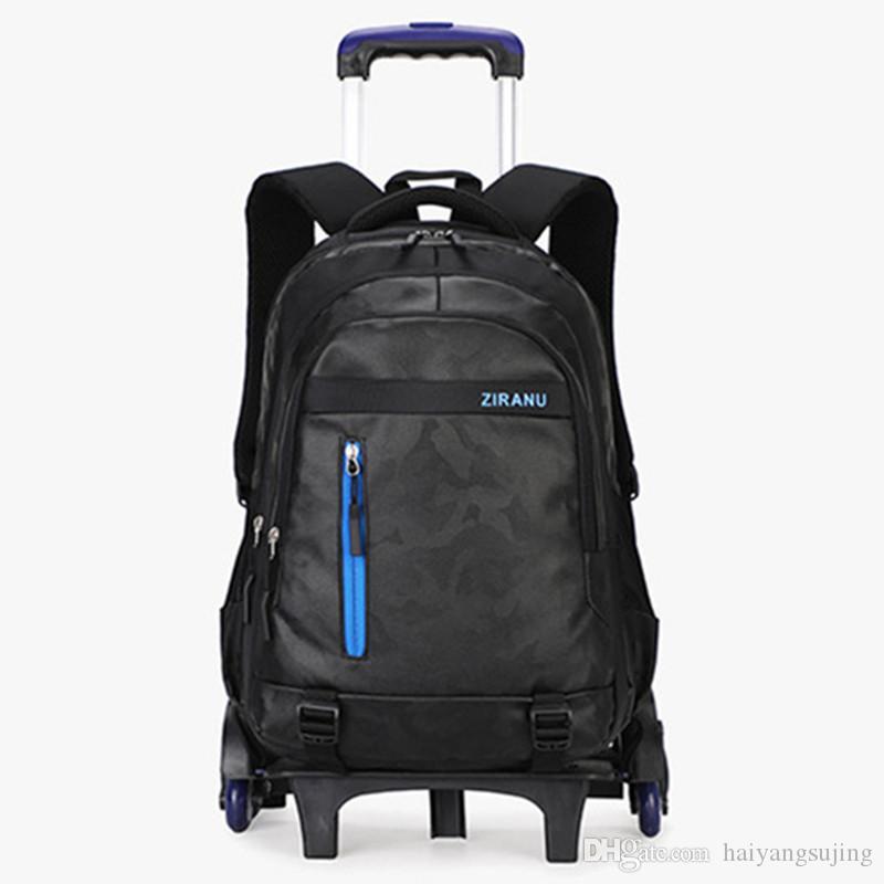 Studente di scuola media 2/6 ruote trolley da scuola bag boy girl impermeabile zainetto scolastico borse da viaggio per adolescenti borse da viaggio zaino